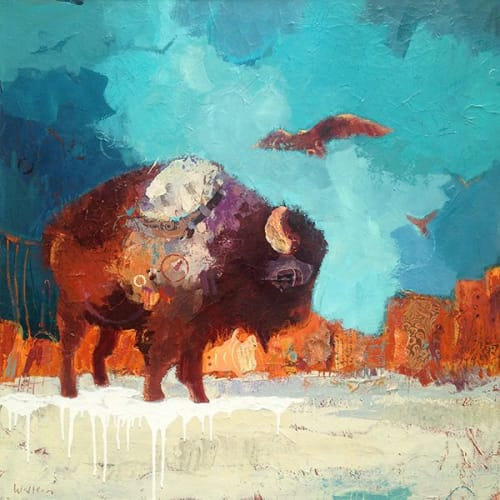 Paintings by Shelli Walters Studio seen at Creator's Studio, Bend - Earth + Feather Painting