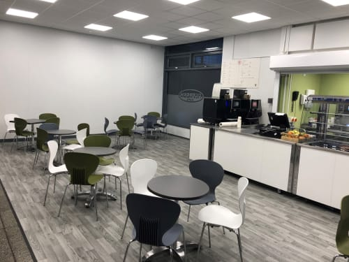 Chairs by Warner Contract Furniture seen at Kingston upon Hull, Kingston upon Hull - Refresh - Cafe Furniture