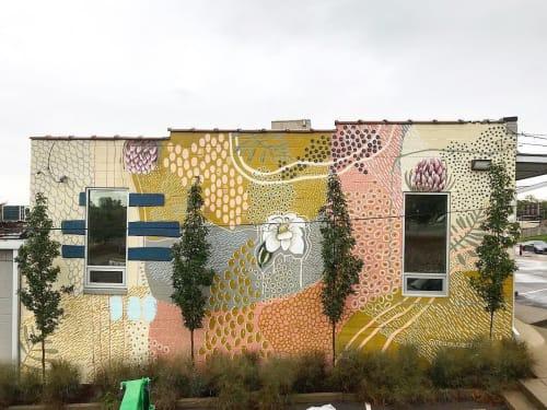 Murals by Tess Erlenborn seen at Galerie Tangerine, Nashville - Exterior Mural