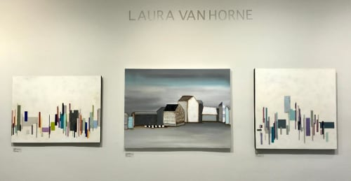 Paintings by Laura Van Horne Art seen at Gray Sky Gallery, Seattle - Copenhagen