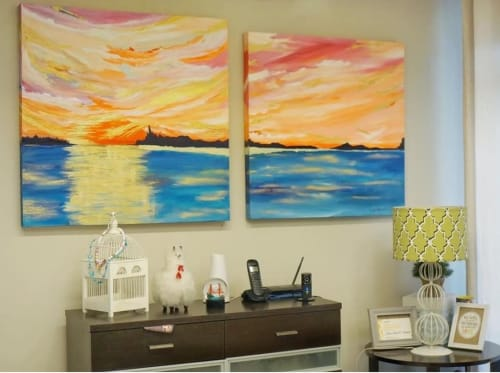 Paintings by Lala Jara-Tuazon seen at Private Residence - The Golden Hour, A Diptych