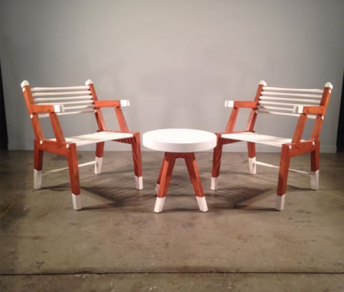 Mahlon Huston - Tables and Benches & Ottomans