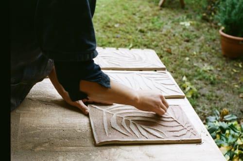 Tiles by Reiko Kaneko Ltd seen at Paradise Soho, London - Stoneware Paradise Tiles