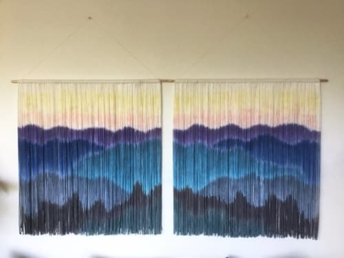 BLUE RIDGE Mountains - Set of 2 | Wall Hangings by Wallflowers Hanging Art