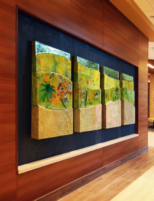 Paintings by Priscilla Robinson seen at St. Anthony's Medical Pavilion Lobby, Denver - Summer Foothills for St. Anthony's Medical Pavilion Lobby
