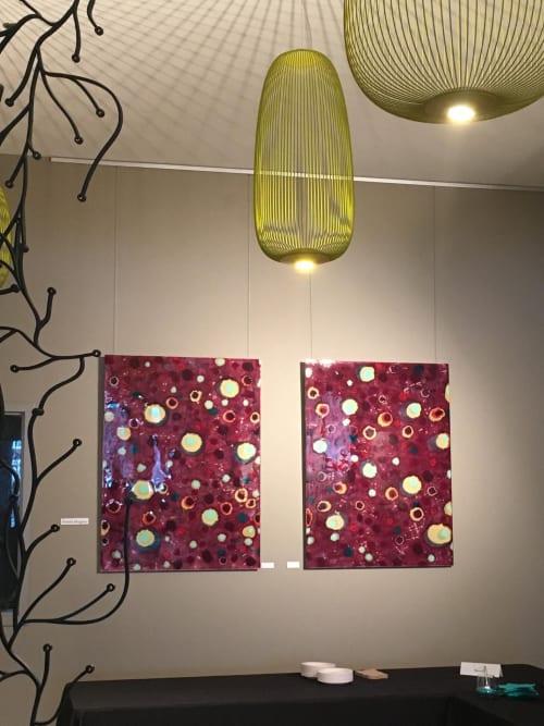 Paintings by Farida Hughes seen at Stonebridge Lofts, Minneapolis - Connected Conversations, 1 & 2