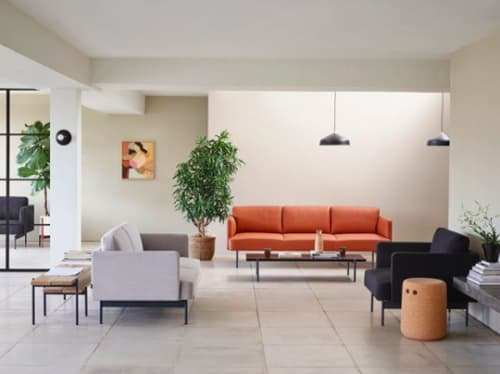 Paintings by Borneo Studio - Andrea Mongenie seen at Private Residence, London - Ochre