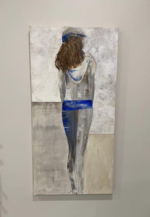 Lady in Blue   Paintings by Marilyn Landers