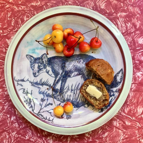 Ceramic Plates by Jessica Brandl seen at Private Residence, Helena - Hand Painted Plate