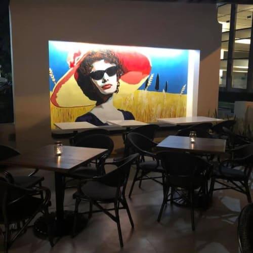 Murals by Karen Chandler seen at Bavaro's Pizza Napoletana & Pastaria, St. Petersburg - Indoor Mural