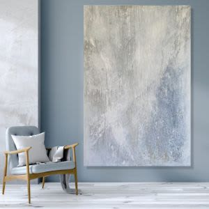 Paintings by Kathleen Rhee seen at Private Residence, Brighton - Quiet Abstract Series No 4Large scale original artwork