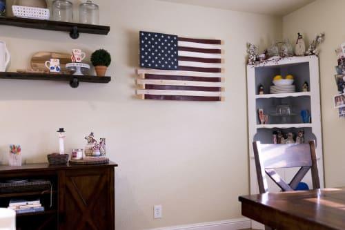 Art & Wall Decor by Martellas Custom Wine Barrel Art, LLC seen at Private Residence, Livermore - Martellas American Barrel Flag