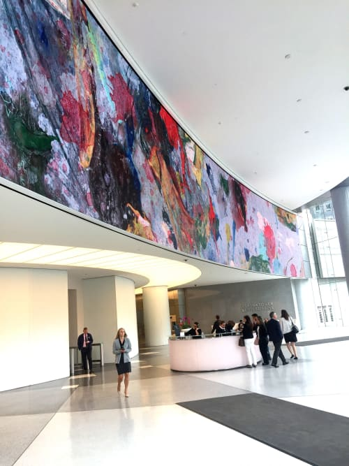 Art & Wall Decor by WRAPPED Studio seen at U.S. Bank Tower, Los Angeles - Abstract Video Art Installation