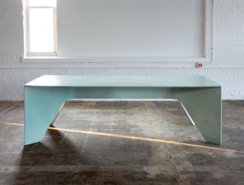 Tables by Steven Haulenbeek Studio seen at Landmark West Loop Luxury Apartments, Chicago - Bully Table (custom)