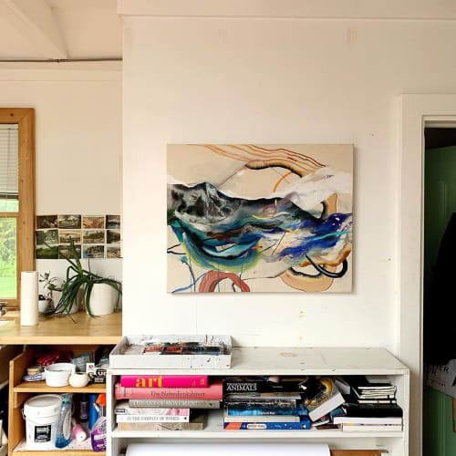 Paintings by Jessica Matier seen at Private Residence, Brooklyn - The Waves That Never Break