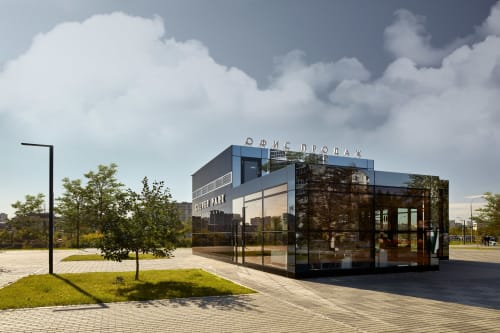 Architecture by VOX Architects seen at Yekaterinburg, Yekaterinburg - Sales Office / LCD Clever Park
