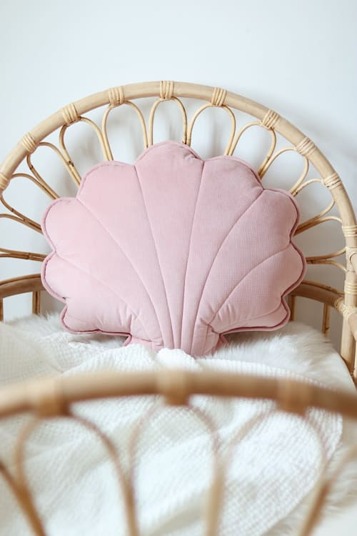 "Pillows by Moi Mili seen at Private Residence, London - velvet large pillow ""soft pink"""
