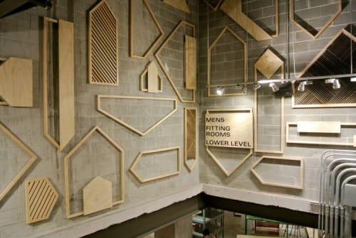 Wall Treatments by Jeff Rubio seen at Urban Outfitters, New York - Slatted Walls