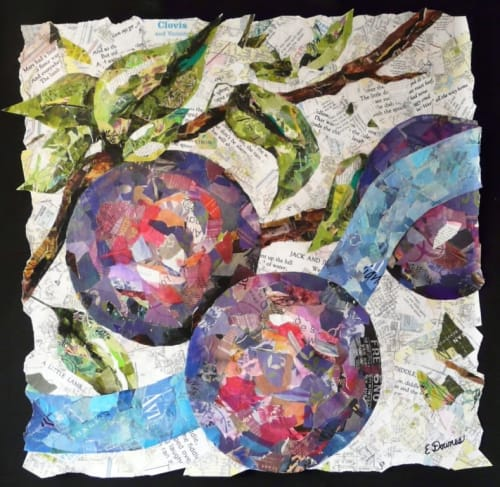 Paintings by Eileen Downes seen at Valley Childrens Hospital, Fresno - Plums