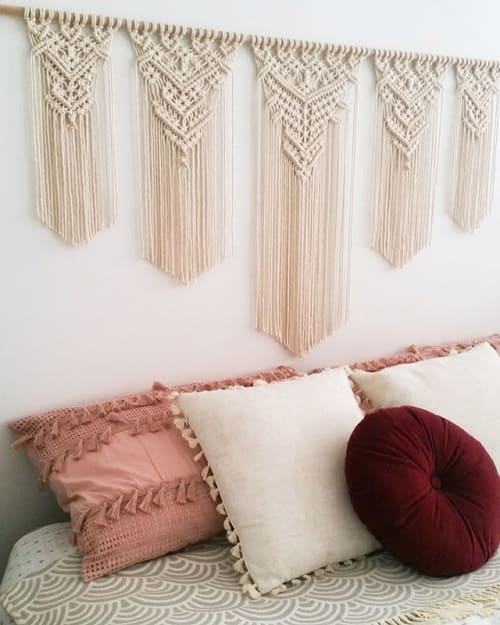 Macrame Wall Hanging by The Knotted Abode seen at Private Residence - Extra Large Goddess Wall Hanging