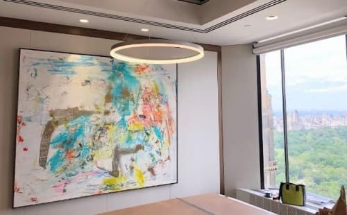 Paintings by Joseph Conrad-Ferm seen at Wells Fargo, New York - Painting