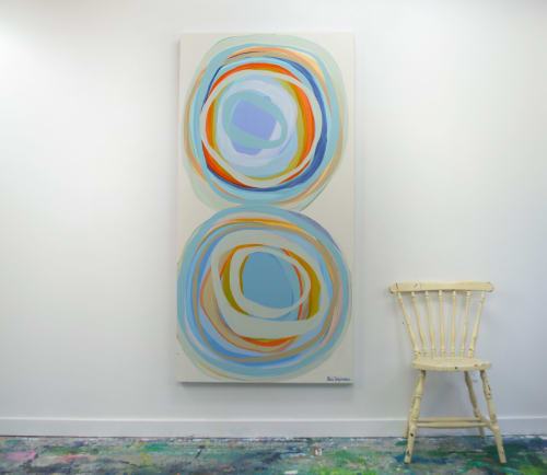 Paintings by Claire Desjardins seen at Creator's Studio, Gore - Living in Bubbles