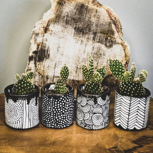 Art & Wall Decor by Dolcezza Pottery seen at Private Residence, Midland - Small Planters / Cups