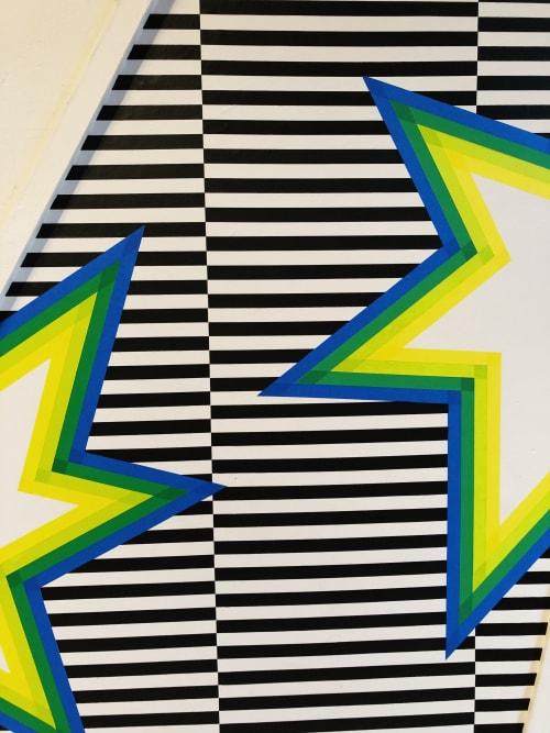 Murals by Katelyn Liepins seen at Philadelphia, Philadelphia - Masking tape installation