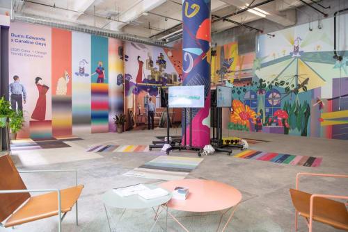 Dunn-Edwards x Caroline Geys 2020 Design Trends + Colors   Murals by Caroline Geys   ROW DTLA in Los Angeles