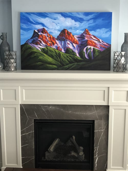 Paintings by Heather Kinahan Art seen at Private Residence, Calgary - In Colourful Harmony