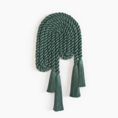 Sculptures by Cindy Hsu Zell - Large Rope Arch (Forest Green)