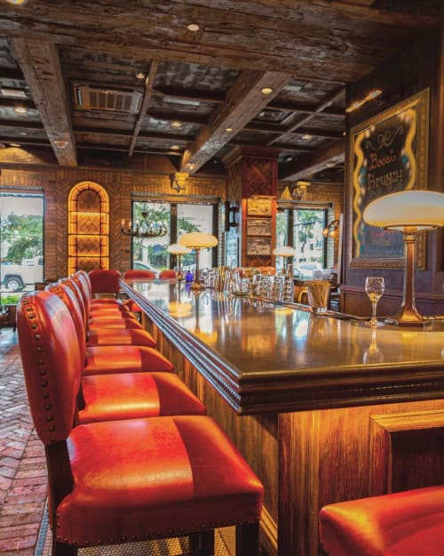 Tables by JM Lifestyles seen at Louie Bossi's Ristorante Bar Pizzeria, Fort Lauderdale - Concrete Countertop