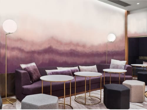 Murals by Elsa Jeandedieu Studio seen at Pure Yoga Pacific Place - Purple Abstract Wall Mural