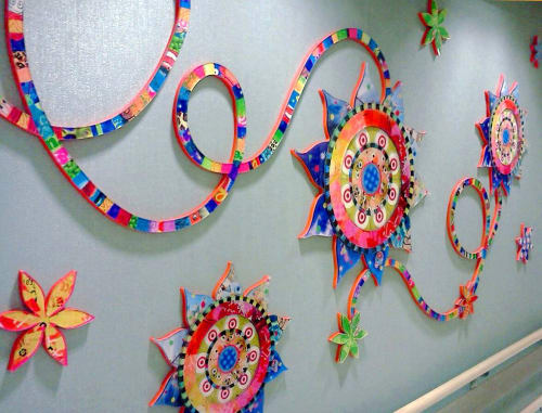 Wall Treatments by Virginia Fleck seen at NYU Langone Orthopedic Hospital, New York - Blossom Bounce