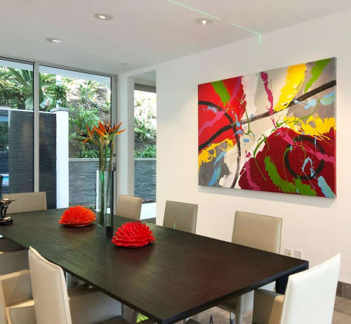 Paintings by Elena Bulatova seen at Private Residence, Beverly Hills - Abstract Painting