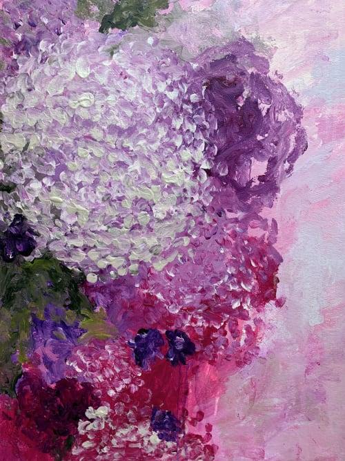 Incrediball In A Tiny Irish Garden | Paintings by Darlene Watson Fine Artist