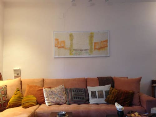 Paintings by David West seen at Private Residence, Jerusalem - Private Residence