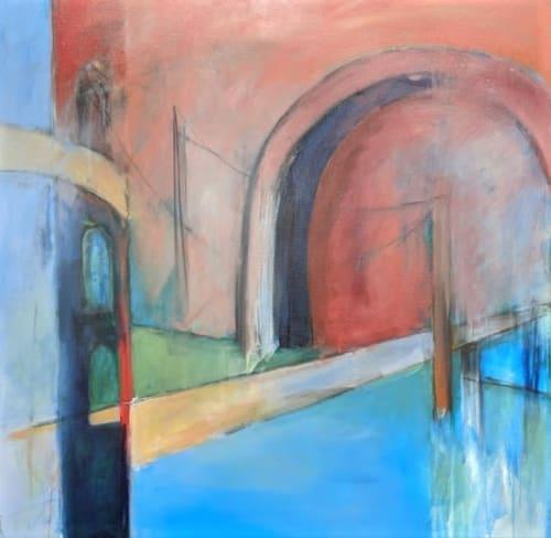 Paintings by Jillian Goldberg seen at Creator's Studio, Cary - Bridge over Troubled Water