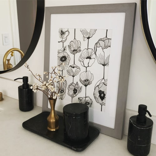 Art & Wall Decor by Studio NEA Design seen at Private Residence, Burlingame - Ink Drawing