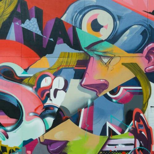 Street Murals by Semor the mad one seen at Aarhus, Aarhus - Maxi semi vegan freestyle salad