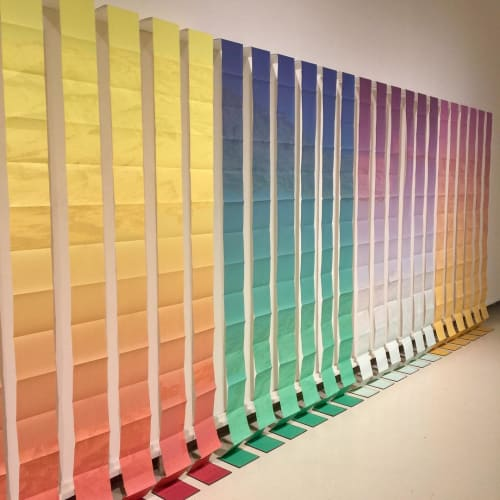"Art & Wall Decor by Nicole Pietrantoni seen at Central Washington University, Ellensburg - ""A Lapse, A Fold, A Field"""