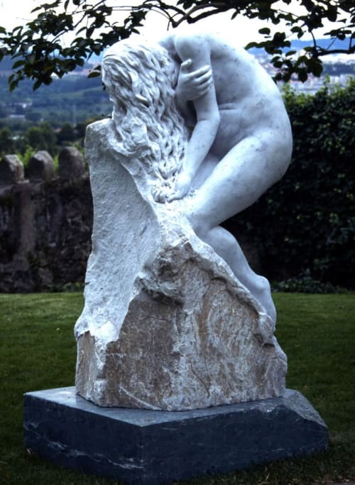 Sculptures by John Fisher Sculptures seen at Private Residence, Braga - Despair