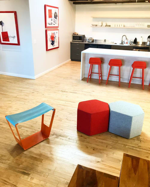 Chairs by Quartertwenty seen at ORANGEWALLstudios architecture + planning, Portland - Giddyup Stool