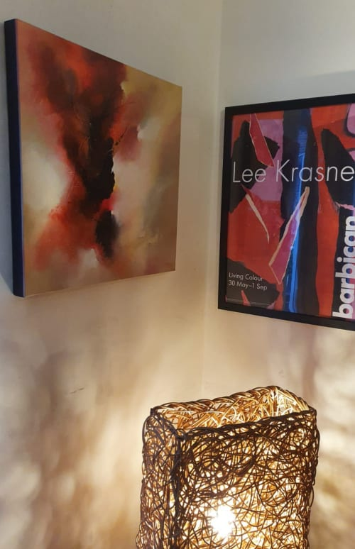 Paintings by Jude Caisley seen at Private Residence, London - Refining Fire painting
