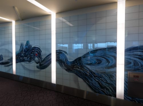 Wall Treatments by Barbara Cooper seen at TF Green Airport (Arrivals), Warwick, RI, Warwick - Interval