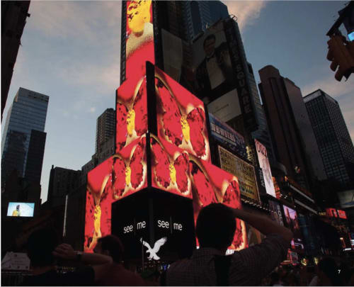 Public Art by Marisabel Bazan seen at Times Square, New York - See Me Take Over, See Me Dream Big