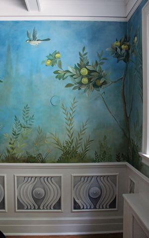 Murals by Kari Serrao seen at Private Residence, Toronto - Italian Garden Room