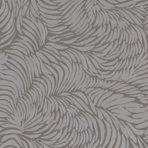 Wallpaper by Jill Malek Wallpaper - Plume | Pewter