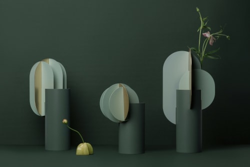 Vases & Vessels by Kateryna Sokolova seen at Kyiv, Kyiv - Gabo & Delaunay vases for NOOM