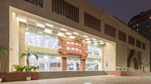 Sculptures by Anoma at Dr Ambedkar International Centre, New Delhi - Lattice Panel
